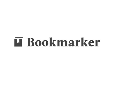 Bookmarker Logo black and white serif acta bookmarking logo