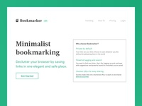 Bookmarker Landing page