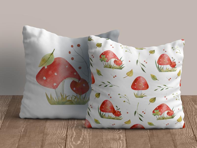 Mushrooms cishions