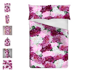 Bedsheets with Peony