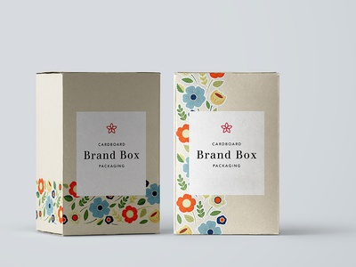Rustic Flowers for brand boxes