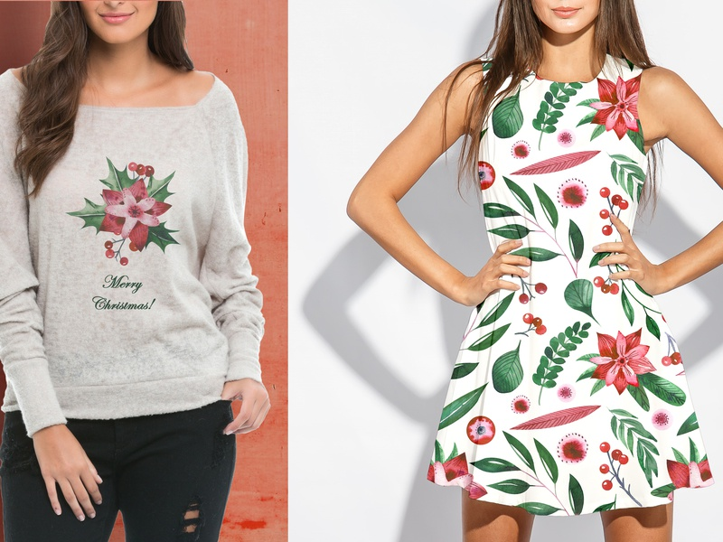 Apparel with Holly motives
