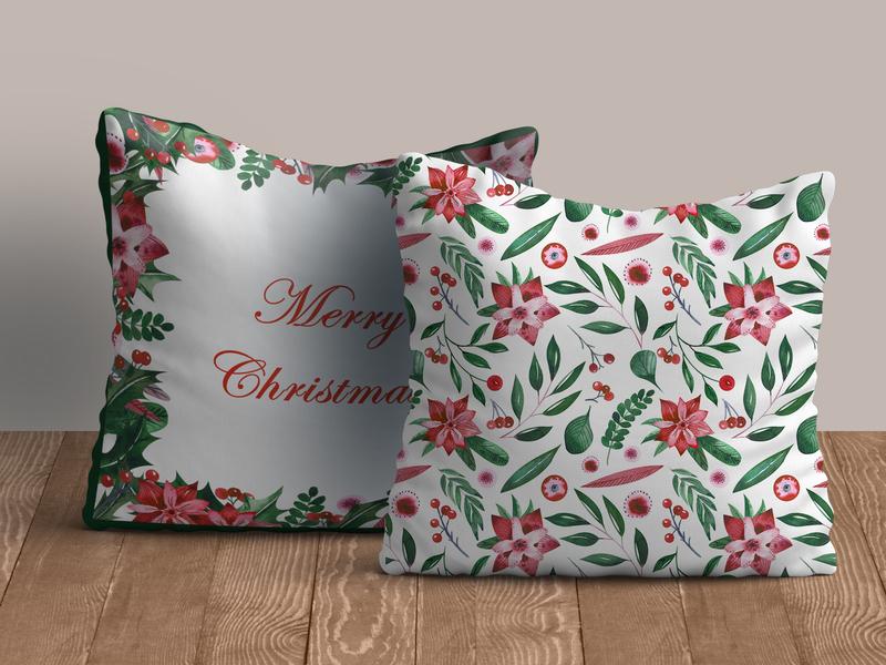 Holly motives for cushions