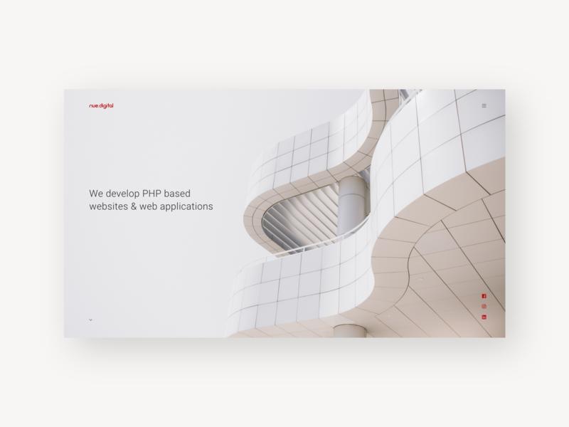Nue.digital building white flat typography type vector logo web ui ux graphicdesign design