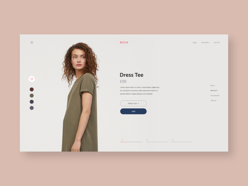 Bova clothing fashion layout type typography graphicdesign homepage flat design ui ux web