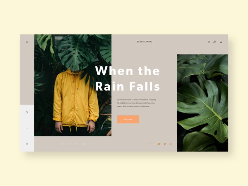 Silver.Lining clothing webdesign typography type design flat homepage ui ux web