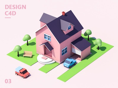 C4D illustration design