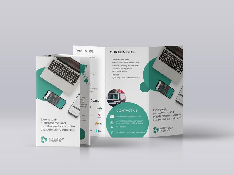 Threefold Systems Leaflet print promo branding design leaflet design leaflet