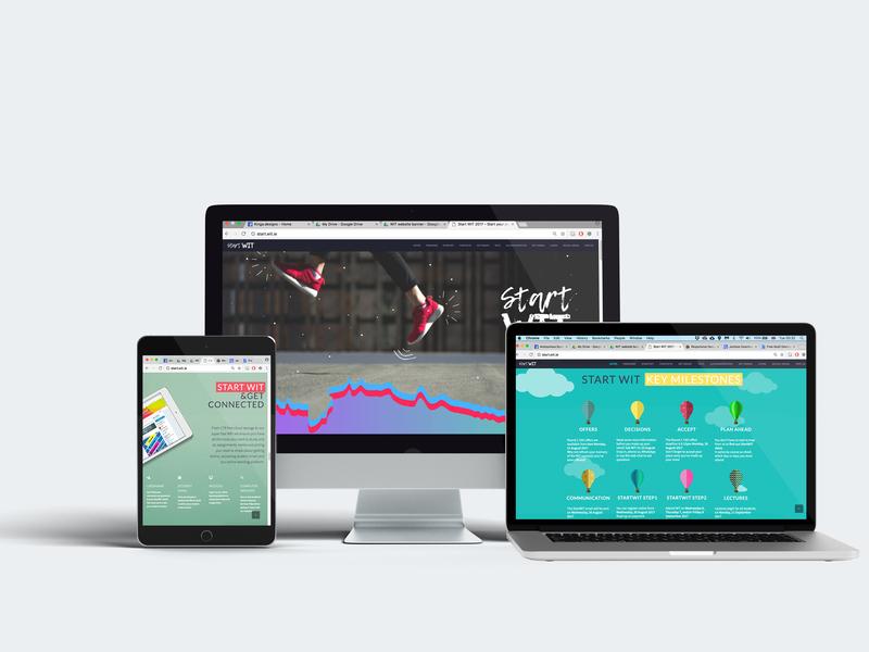 Start WIT website ux design ux  ui design web ui ux