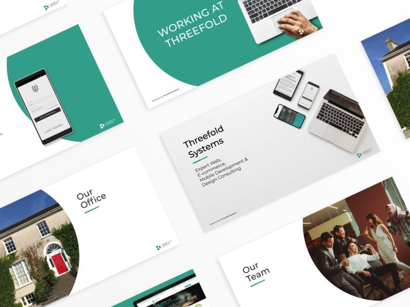 Slide deck simple clean digital branding slides slideshow