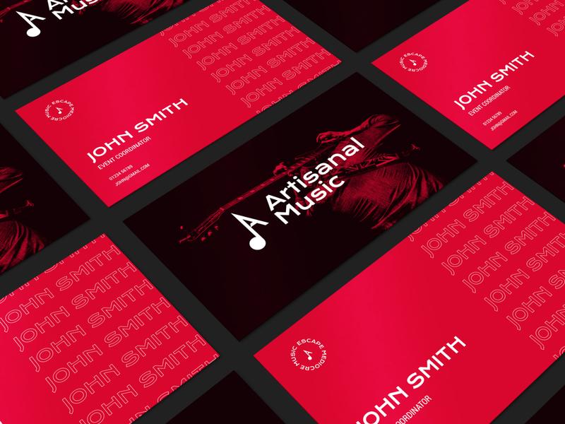 Artisanal Biz Card Mockup events music design adobe illustrator branding logo adobe xd mockup