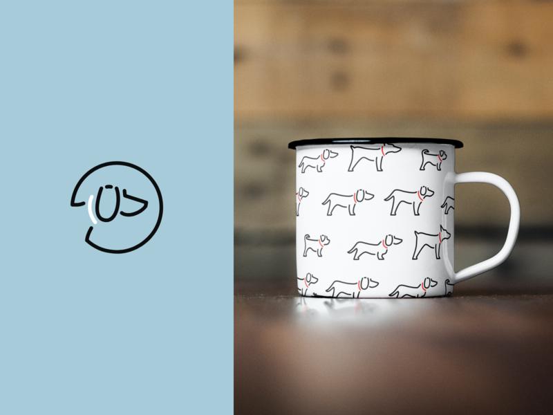 Surrey Hills Walkies - Mug Mockup dog walking dog print icon branding logo graphic idea mockup design mug mug mockup