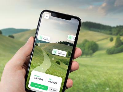 Explorer App - iPhone Mockup walking mobile app ui ux design adobe xd mockup design