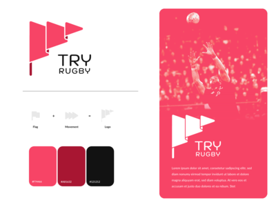 """Try"" Rugby Club Logo Concept"