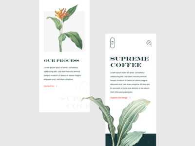 Supreme Coffee Mobile Website