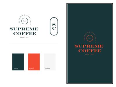 Supreme Coffee Logo Concept
