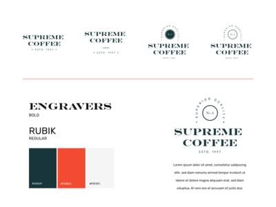 Supreme Coffee Logo Variations