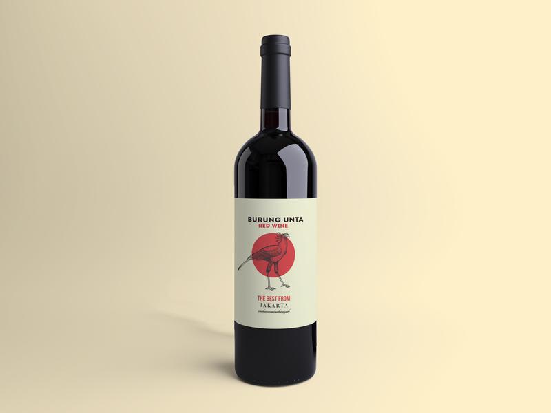 Burung unta wine branding
