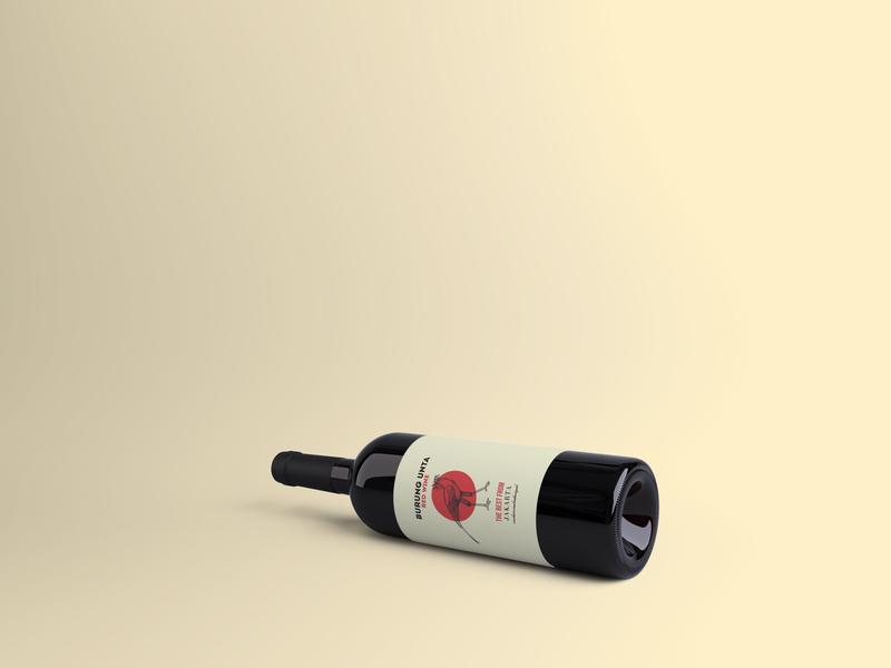 Burung unta wine packaging