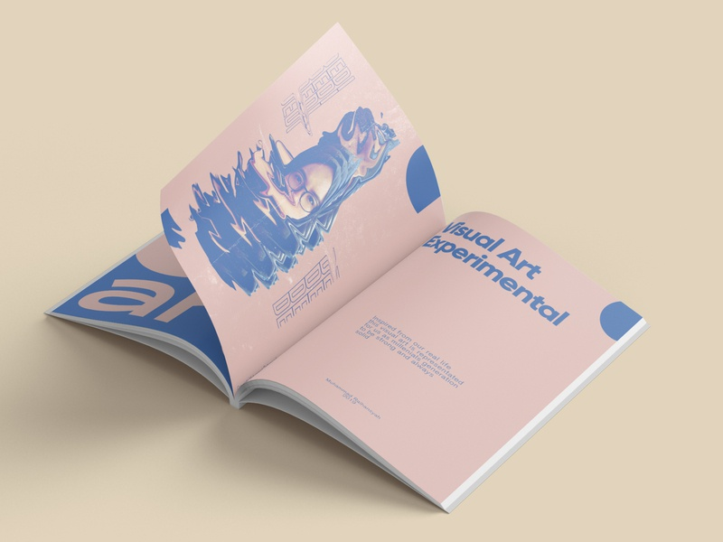 magazine page of visual art