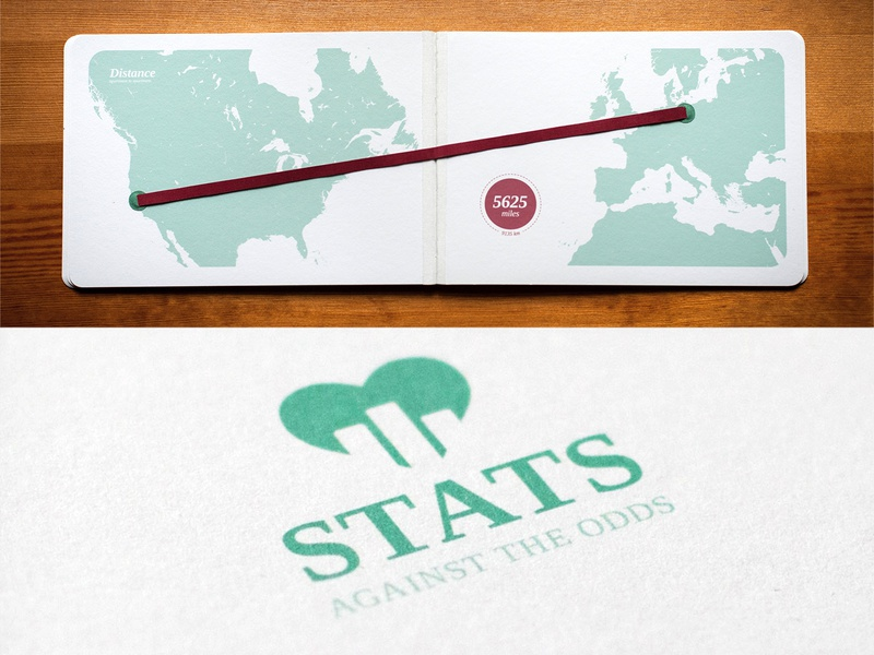 Stats Against the Odds debut maps vector typography design love linen handmade print data visulization
