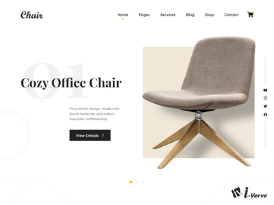 Chair Website Design ecommerce online website appdesign webdesign bestdesigb banner design i-verve weblayout design graphic design branding motion graphics animation ui