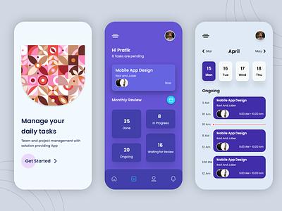 Task Manage App illustration vector app i-verve dailyui graphic design design uiux manege task ux ui