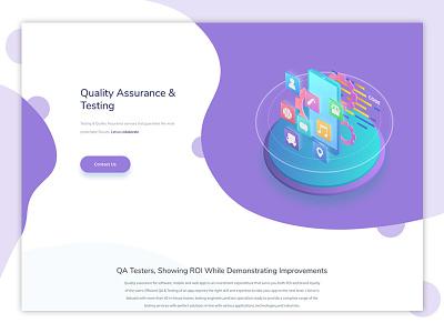 i-Verve Quality Assurance And Testing Banner banner design webheader web vector design illustration weblayout header