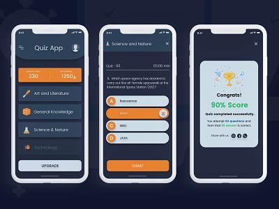 Quiz App Design Idea ui  ux design gaming fun quiz app
