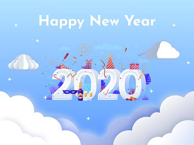 Happy New Year 2020 illustration new year 2020 happy new year 2020