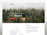 THE WOODS - Branding Website