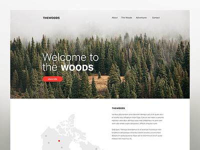 THE WOODS - Branding Website scrollpage landingpage woods website