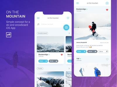 On The Mountain iphone x iphone ios ski resort snow snowboard ski ux app