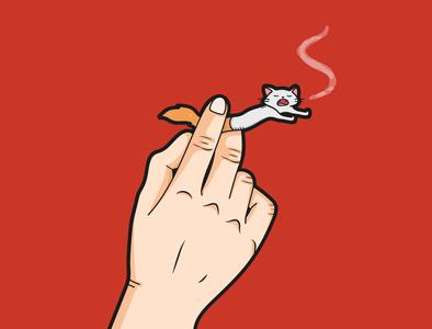 Smoking branding vector content design design flat art flat  design flat illustration
