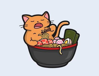 Rameow cat vietnam content design design flat art flat  design vector illustration