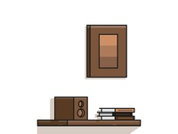Flat Bookshelf