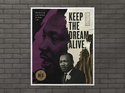 Keep The Dream Alive martin luther king jr black lives matter poster atlanta blm mlk