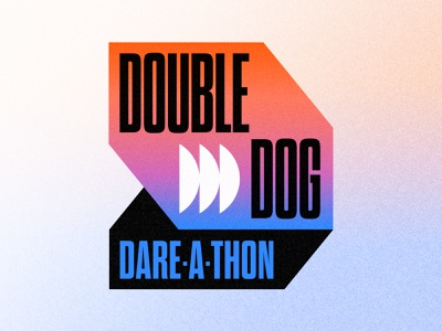 Double Dog Dare-A-Thon icon doge shiba inu silly dare middle school event branding blue two-headed double dog