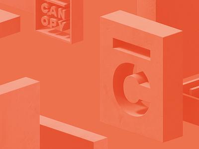 Canopy Block Party concrete soft render c4d 3d branding event canopy