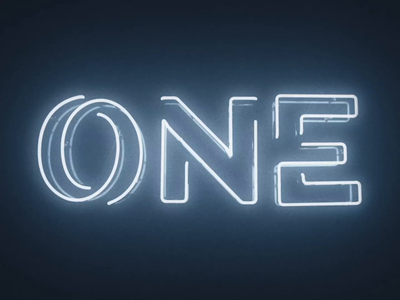 One Neon Sign students youth hazy glow flicker physical sign neon