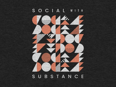 Social with Substance Shirt grid canopy shapes apparel social screen printing abstract shirt geometric