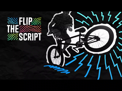 Flip The Script Title Pack cutout 3d twist scribble middle school flip rotoscoping frame by frame animation motion design video bumper title pack