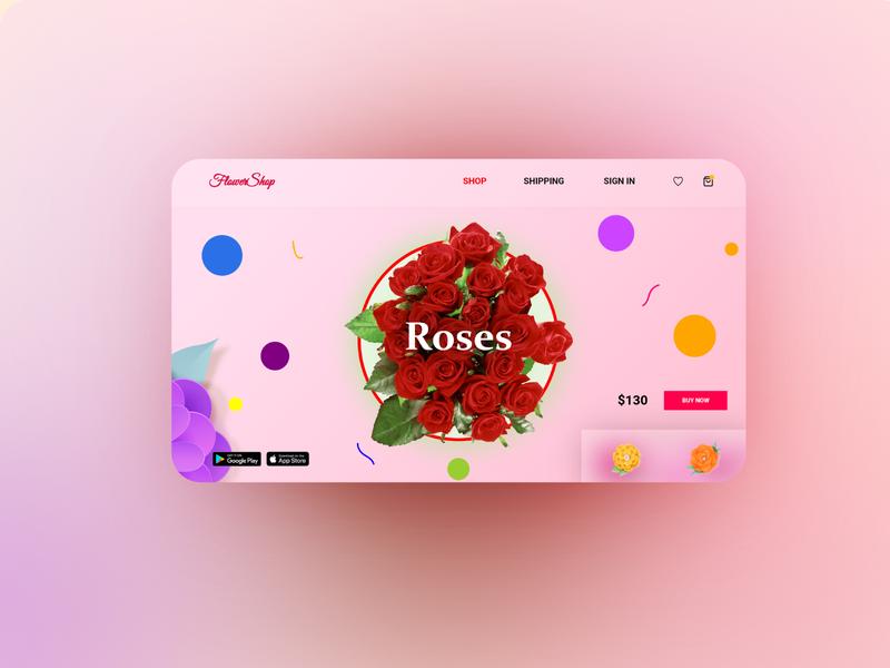 Flower Shop Product Page website design adobe photoshop adobe illustrator web design design illustartor adobe xd flower shop flower website flowers