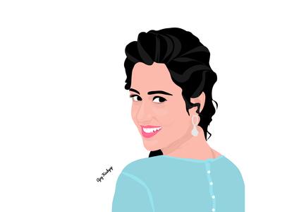 Disha Patani Vector Art illustration vector digital illustration digital art vector design vector art disha patani