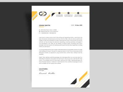 Corporate Letterhead design business brand a4 creative clean colourful abstract corporate