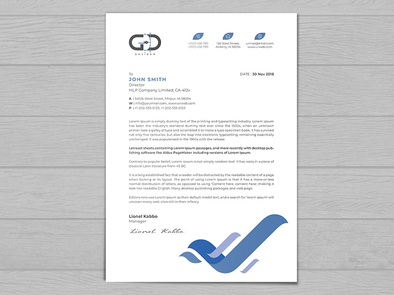Letterhead By Graphicdeviser On Dribbble