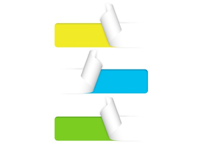 Stickers stickers paper yellow green blue curl cut listing