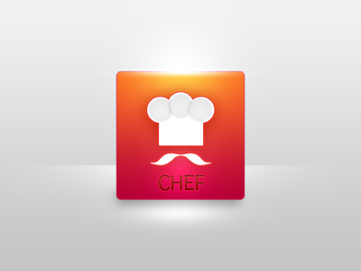 Chef web appicon cook icon application brand logotype logo