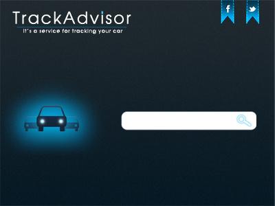 TrackAdvisor car design site service advisor auto mobile ui