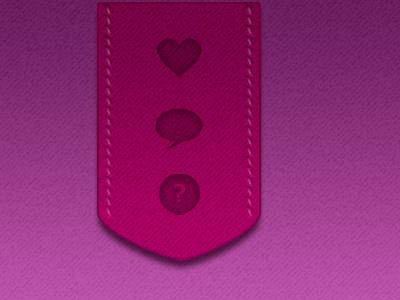 Toolbar buttons ribbon stitch ui web heart pink